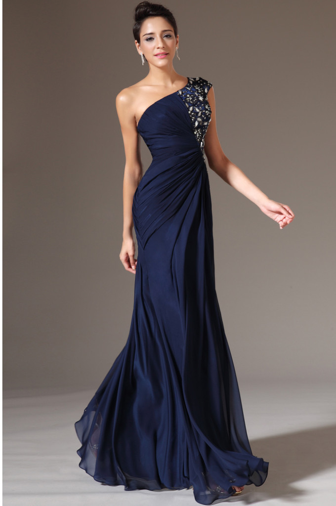 2015-Dark-Blue-Color-One-Shoulder-Pleats-Long-Evening-Dresses-Floor-Length-Chiffon-A-line-Crystal