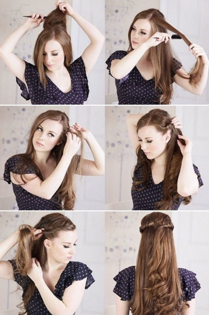 Curly+Hairstyles+Step+By+Step