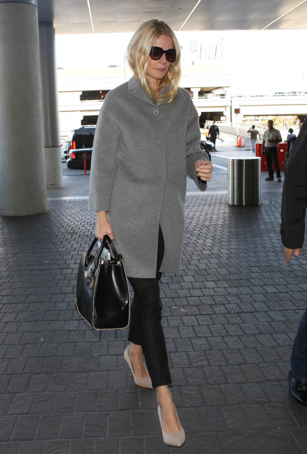 Gwyneth-Paltrow-kept-things-cool-neutrals-gray-coat