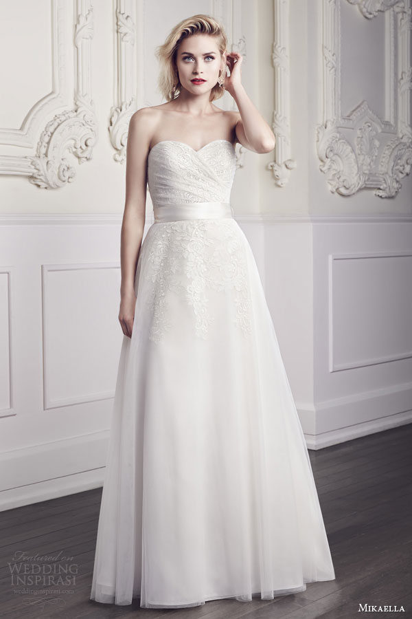 Mikaella Bridal Wedding Dresses Spring 2015