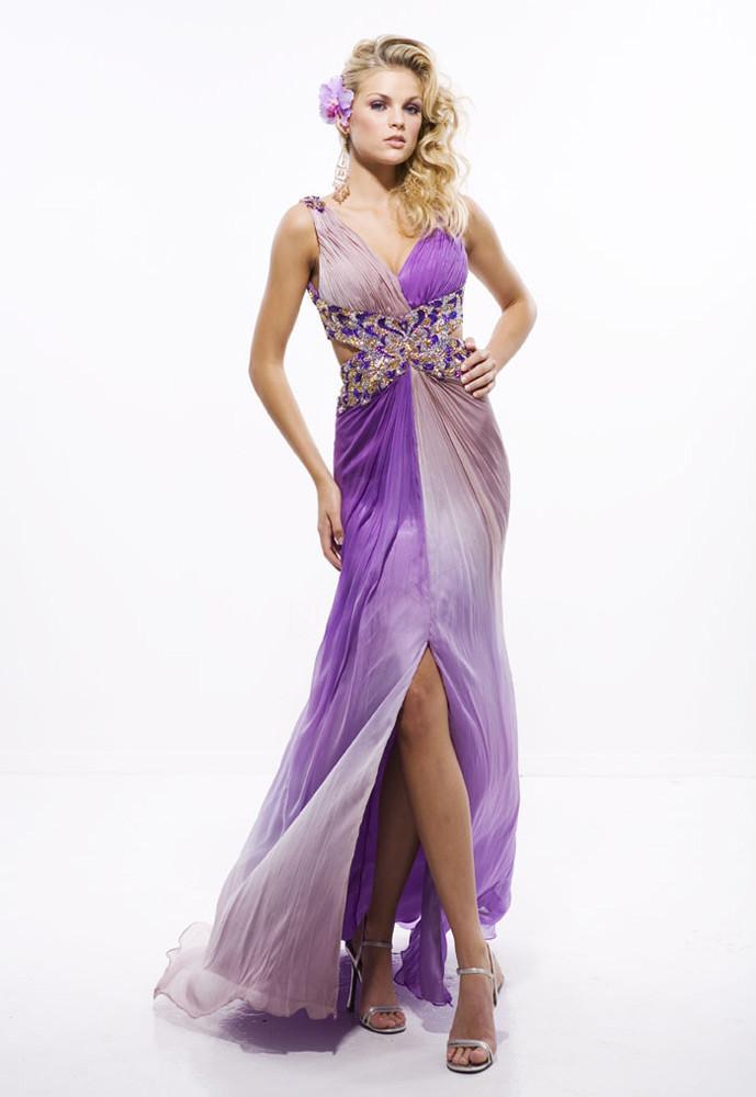 Women-Party-Dress-Purple-Formal