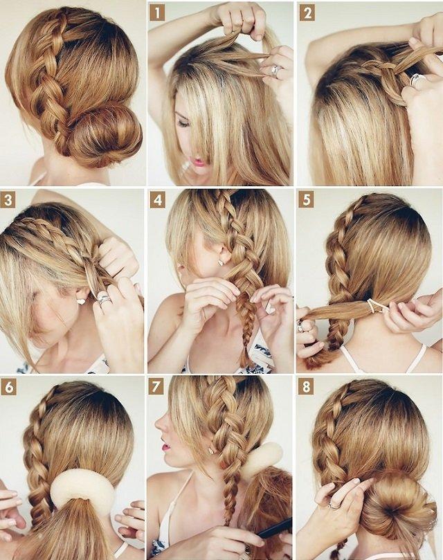 big-braided-bun-elegant-hairstyles