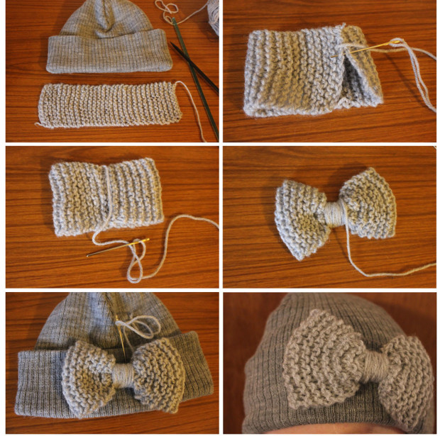 Hat - diy-thrifty-fashion-knitted-bow-accessory-step-by-step-instructions