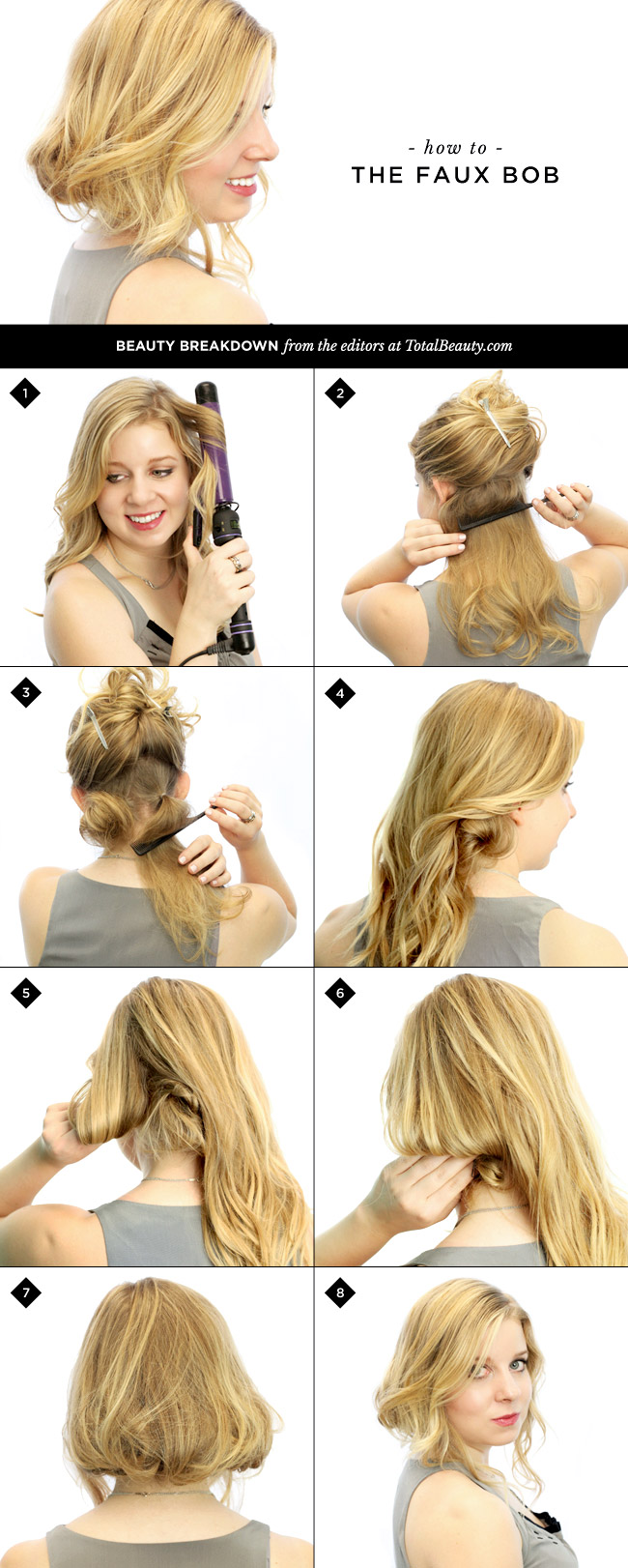 Quick Hairstyles For Short Hair Step By Step : Easy and Fast DIY Hairstyles Tutorials - Fashion Beauty News