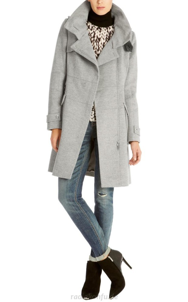 gray coat fashion