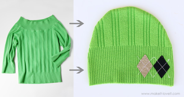 green-sweater-hat