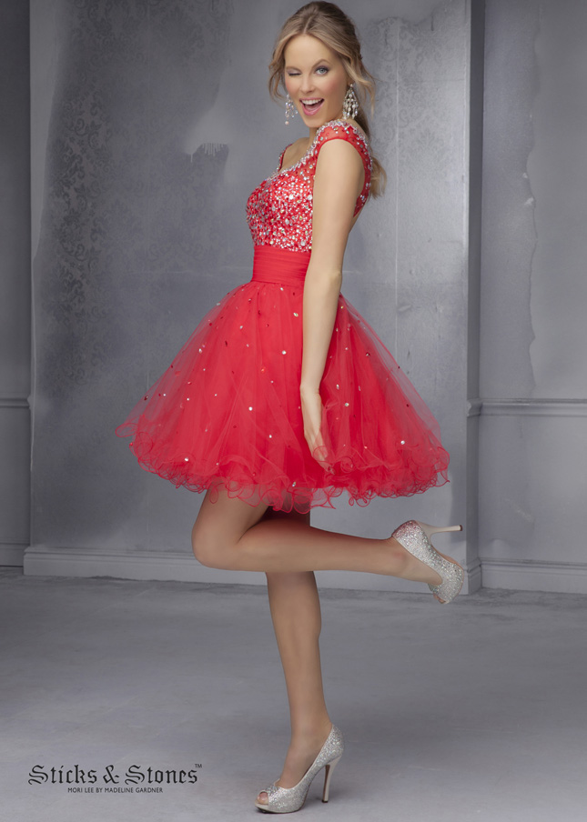Party Dresses for Amazing Party - Red Short Party Dress 2015
