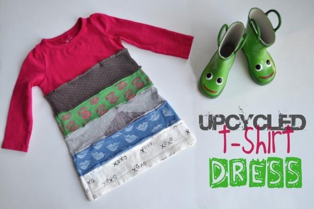 upcycled t-shirt dress