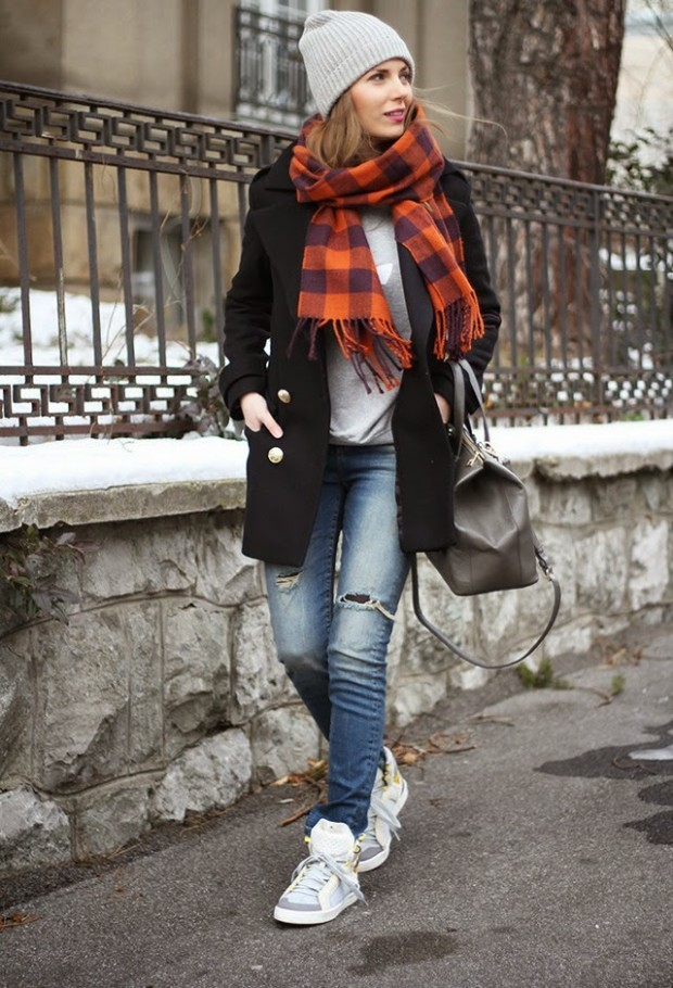 Casual-Winter-dresses-2015-Street-Style-look-fashionmaxi.com-adidas-by-stella-mccartney-sneakers-adidas-sweaters