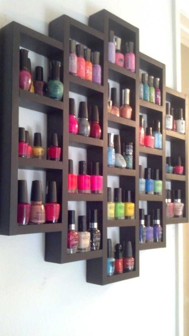 diy nail polish organizer ideas fashion beauty news. Black Bedroom Furniture Sets. Home Design Ideas