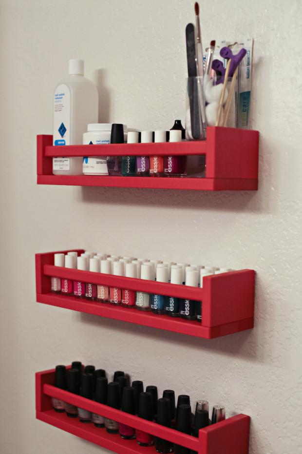 DIY Nail Polish Organizer