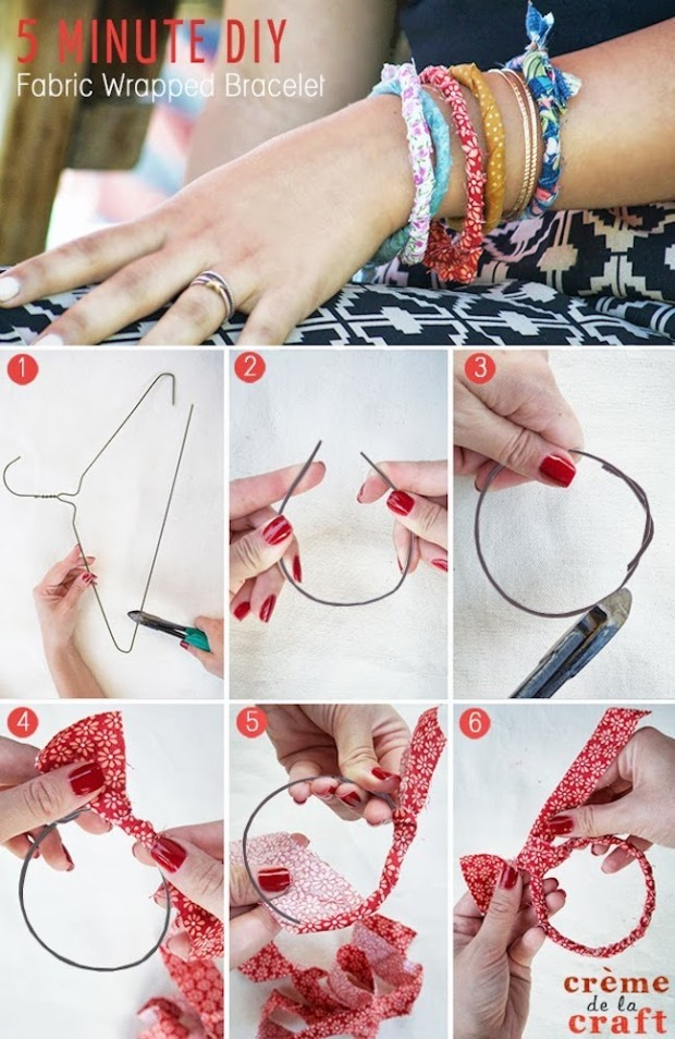 DIY-Project-Idea-Tutorial-Fabric-Wrapped-Wrap-Bracelet-Jewelry-Craft-Five-Minute-Easy-Fashion
