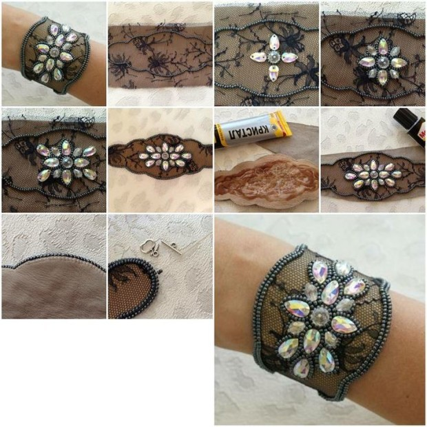 How-to-Make-Lace-and-Beads-Bracelet-step-by-step-DIY-tutorial-