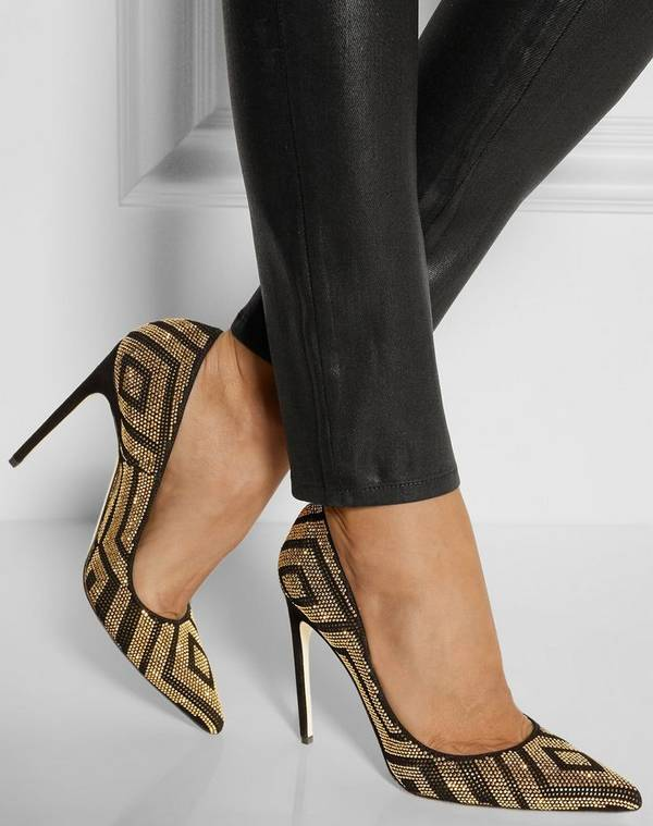 Metallic-Leather-Pumps