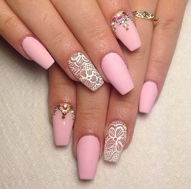 Nails Design Ideas our 30 favorite wedding nail design ideas for brides Source Nail Art Design Ideas For Uk Girls 2015