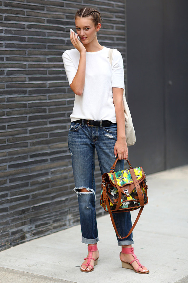 Trendy jeans boyfriends Spring-Summer 2015