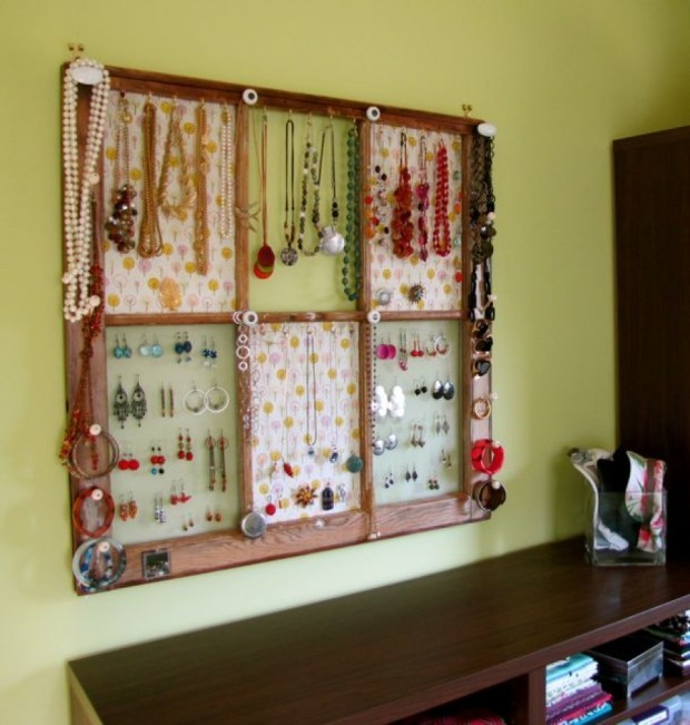 -Window-Frame-Jewelry storage