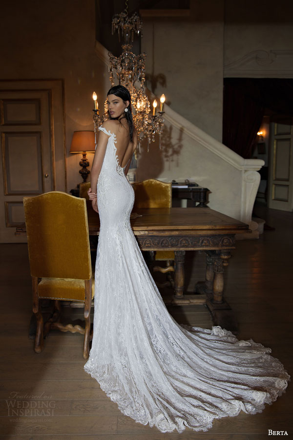 berta-bridal-2015-off-the-shoulder-sheath-wedding-dress-low-back-view