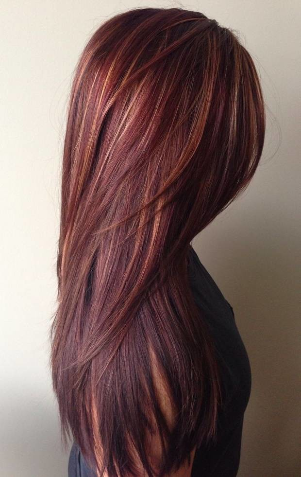 dark-red-rich-hair-color-with-caramel-