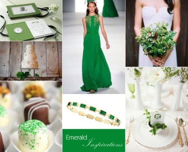 emerald colors wedding-ideas