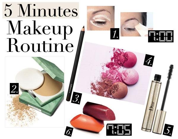 fashionbeautynews 5 min make up