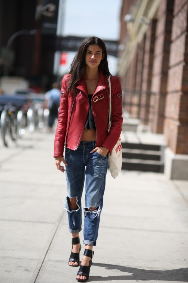 leather jackets street style sppring 2015 1
