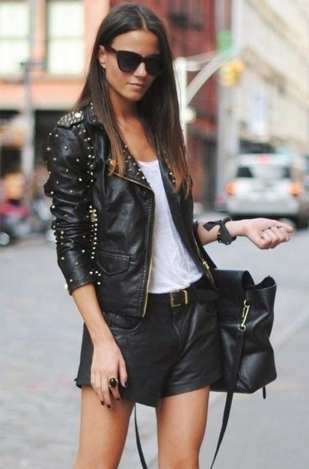 leather jackets street style sppring 2015