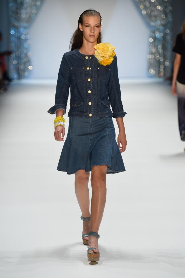 modern flared skirt