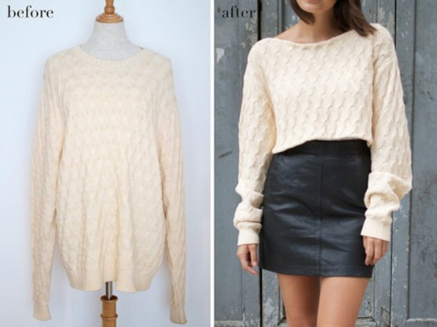 sweater refashion 1