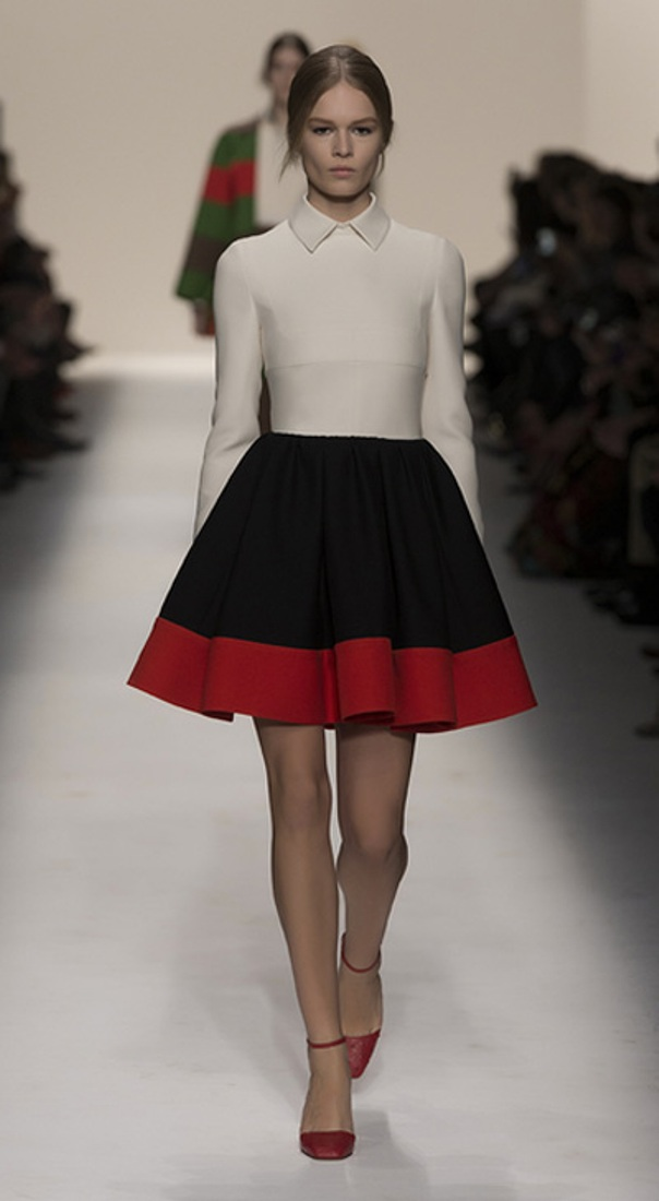 white-shirt-black-red-skirt