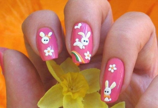 Cute-Easter-nail-art-designs-2015 - Easter Nail Art Designs - Fashion Beauty News