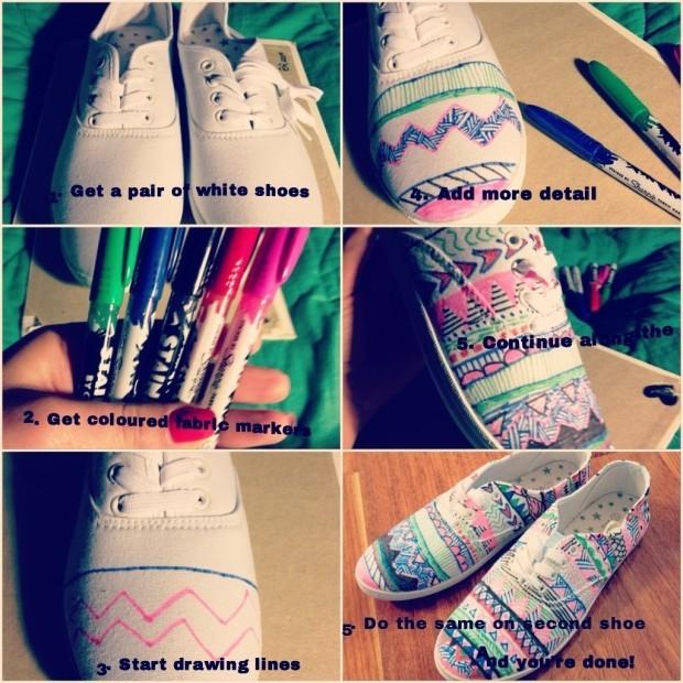 DIY Shoes Ideas -fashionbeautynews 4