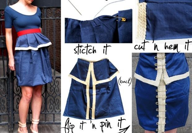 DIY peplum skirt