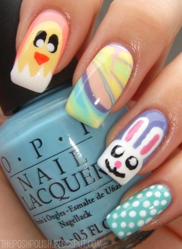 Easter nail art designs fashion beauty news elegant easter themed nail art designs ideas trends prinsesfo Choice Image
