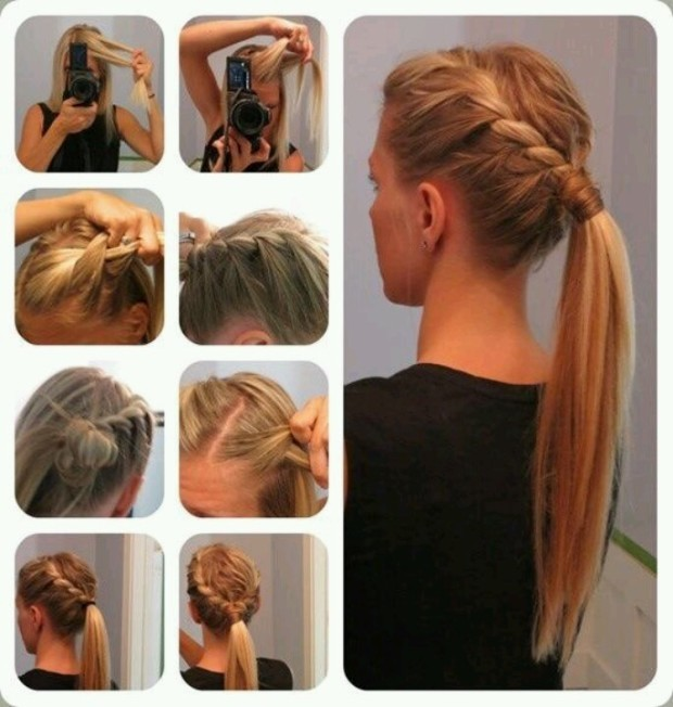 How-To-Make-French-Braid-PonyTail