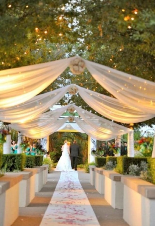 Lighting-Ideas-diy outside wedding decorations