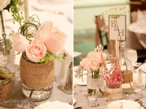 Rustic-Mason-Jar-Wedding-Centerpieces