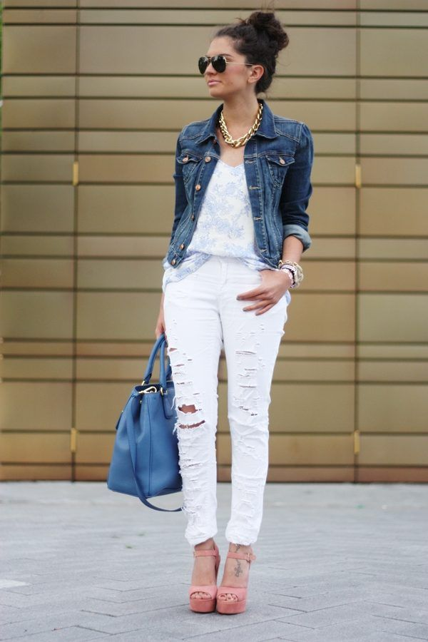 What to Wear with a Denim Jacket 2