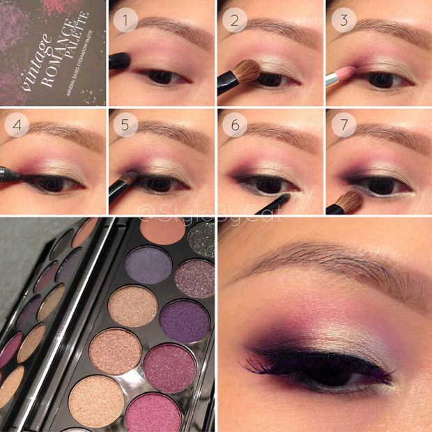 White-Gold-and-Wine-Eye-Makeup-Tutorial