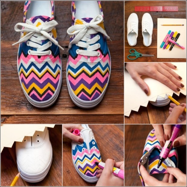 diy-neon-chevron-shoe-makeover