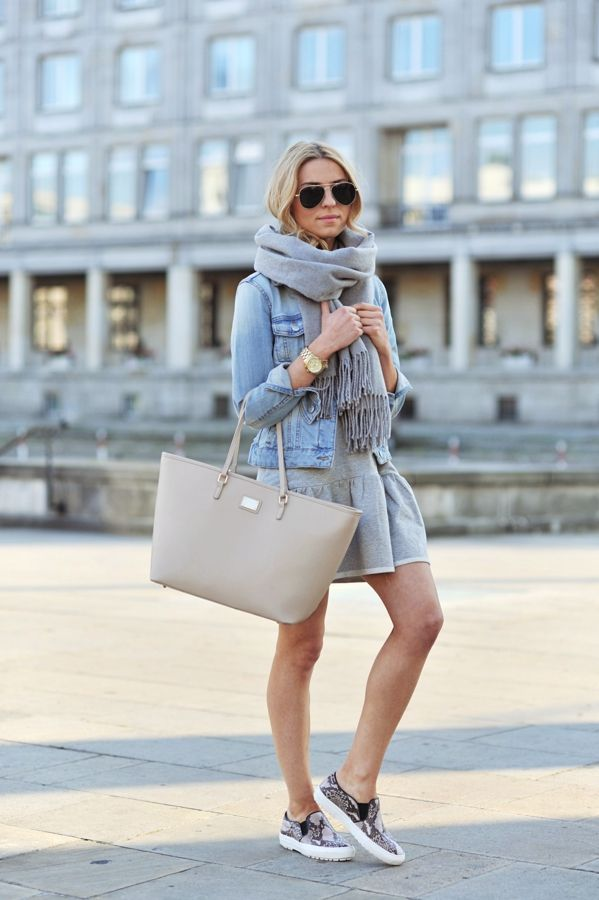 early spring denim-jacket-outfit