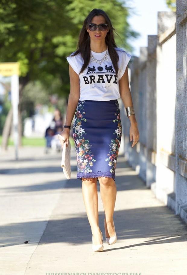 graphic-tee skirt