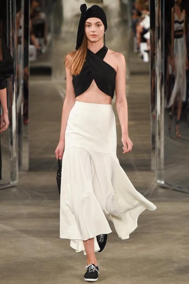 long white skirt street style