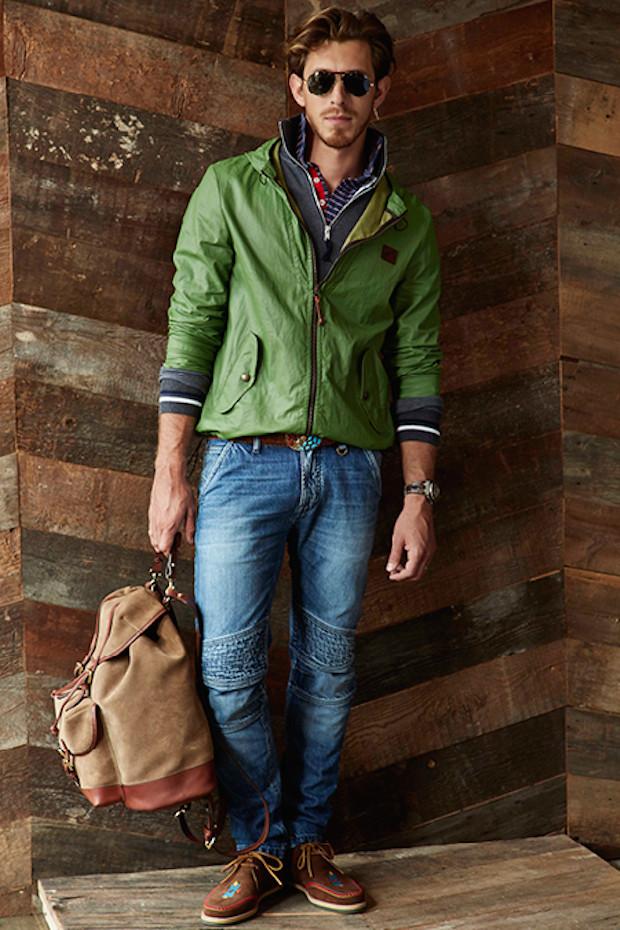 michael-bastian-nyc-2015-spring-summer-looks-mens-southwest-denim-jeans-knit-sweater-western-biker-windowpane-check-blazer-shorts-aviator-su denim