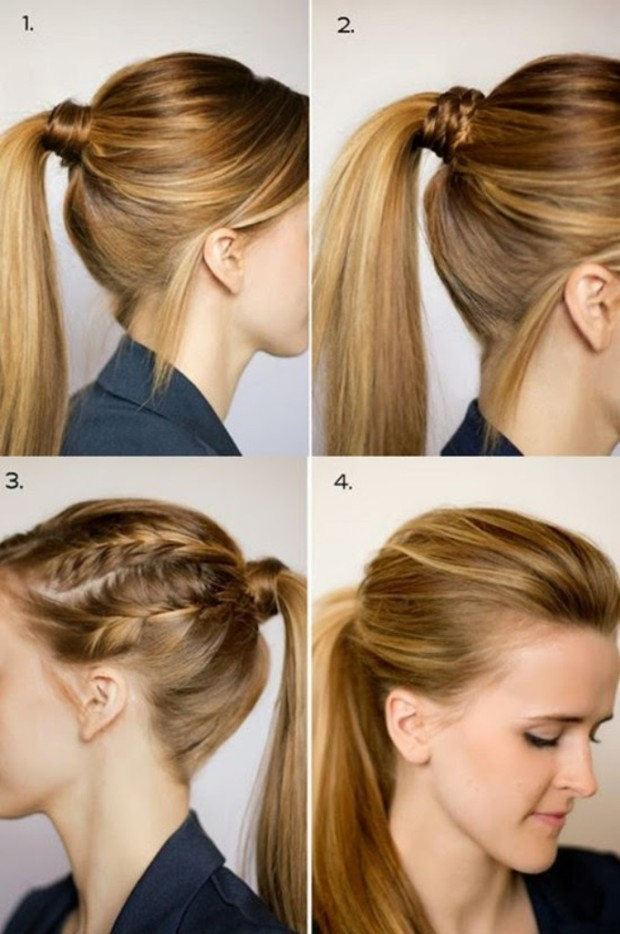 ponytail hairstyle step by step 1