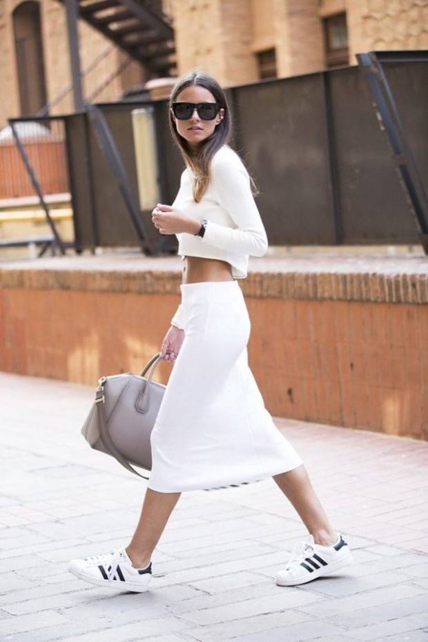 What to Wear With a White Skirt - spring-trend-skirts