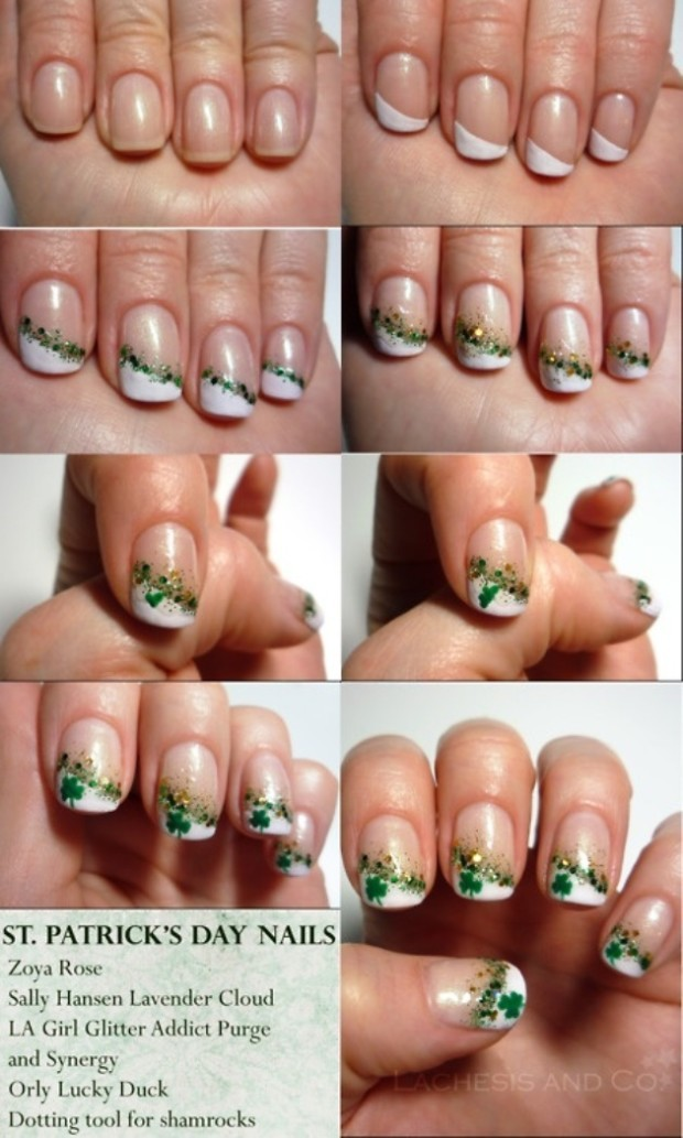 st patrick's day nail designs 1
