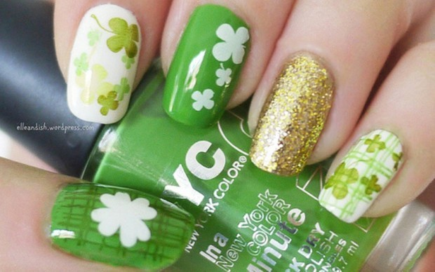 st patrick's day nail designs 4