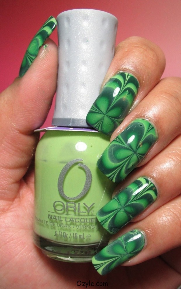 st patrick's day nail designs 5