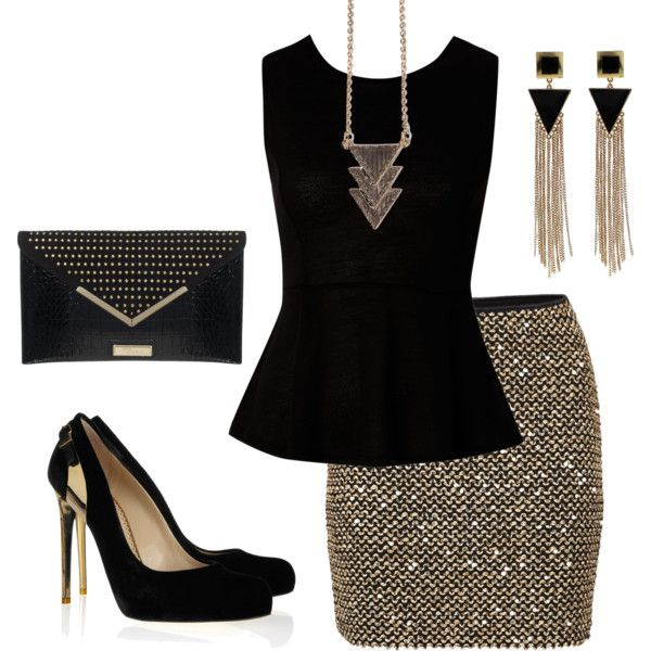 Polyvore Combos With Peplum Tops 1
